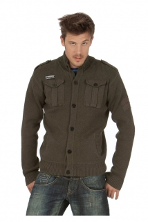 Mogul Strick Jacke Lars Combed Cotton Millitary