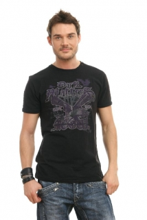 Mogul Shirt T-Gun Flamme black