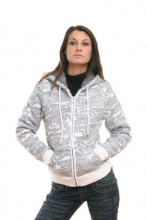 Mogul Sweat Jacke Keely-Typo white
