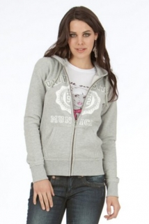 Mogul Sweat Jacke Girl Sporty Grey