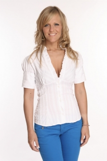Mogul Bluse Mika Stretch Pop white