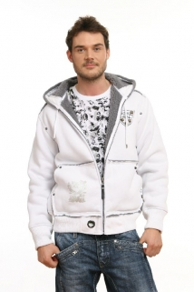Mogul Sweat Jacke Richy-Matters white