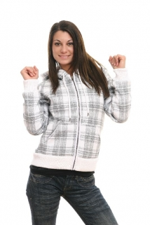 Mogul Sweat Jacke Keely-Check white