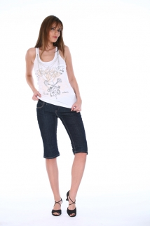 Mogul Shirt Enza-Lucky Rip Top white