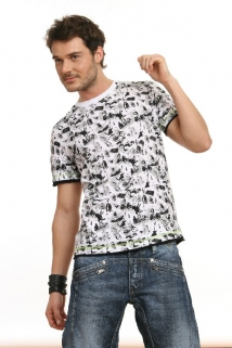 Mogul Shirt Amos-Graffiti white