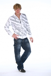 Mogul Sweat Jacke Morris mit Allover-Print