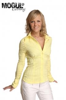 Mogul Bluse Babette Strech Pop Lemon