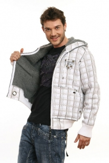Mogul Sweat Jacke Richy-Check white
