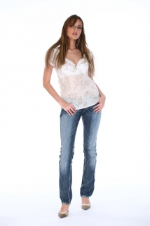 Mogul Bluse Tilly - Flower white