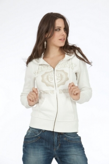 Mogul Sweat Jacke Girl Sporty White