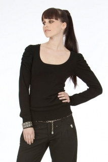 Mogul Tinka Viscose Knit Mix Black