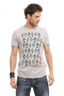 Mogul Shirt T-Robot grey-mel.