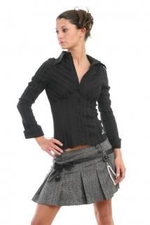 Mogul Bluse Babette Strech Pop black